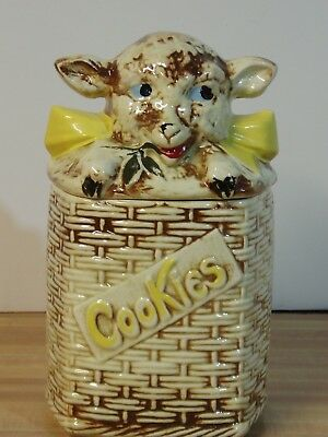 "McCoy Lamb Cookie Jar 10"" Tall Very good condition"