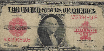 """$1 """"1923"""" (Red Seal) """"united States Note""""  $1 """"1923"""" (Red Seal) Rare Note!! Rare"""