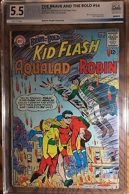 Brave And The Bold #54 PGX 5.5 ! 1st Teen Titans! Like CGC !