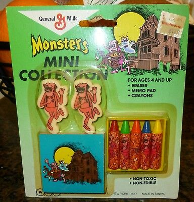 1980s Monster Cereal Box Frankenberry school set GREEN card MIP WOW!