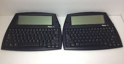 Lot of 2 Vintage Alpha Smart Wireless Dana Portable Word Processor W/ Stylus