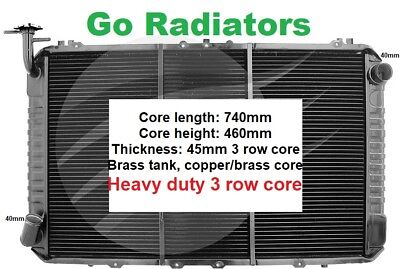 Nissan Patrol Gq Y60 1988-1997 Diesel Manual Radiator *heavy Duty 3 Core Brass*