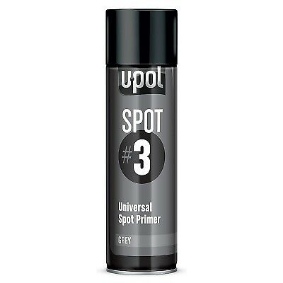 U-Pol Spot #3 Fast Drying Universal Spot Grey Primer 450ml Aerosol Easy To Sand