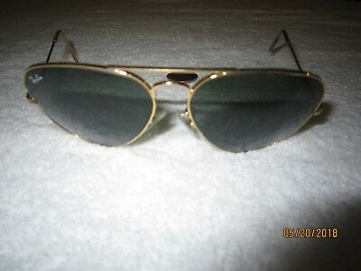 Ray-Ban RB 3026 58 14 AVIATOR METAL sunglasses GOLD vintage PILOT hollywood SEXY