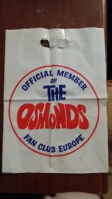 Official Member of the Osmonds Fan Club Europe Bag