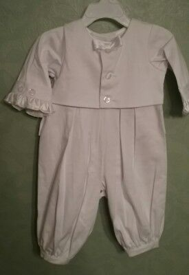 Boys Infant Christening Baptism Outfit 3-6 M White