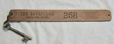 Antique Hotel Key Tag The Saulpaugh Ankato Minn Mn