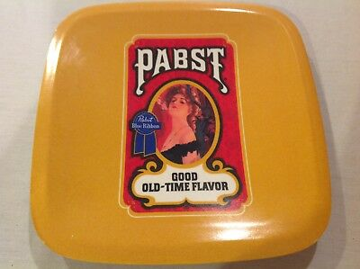 "Vintage PABST Blue Ribbon Beer Plastic Bar 7"" Plate"