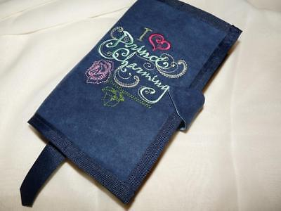 Embroidered Suede Fabric Paperback Book Cover - I Love Prince Charming