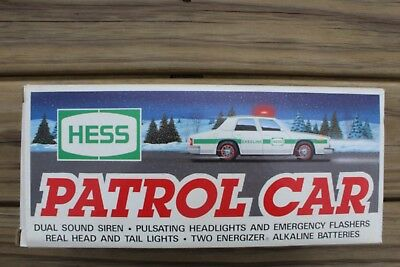 1993 Hess patrol car with flashing lights and siren.