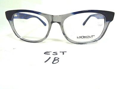 1fe49dcfe55 Nos LOOKOUT Eyeglass Frame CH1070-02 Blue Smoke Rounded (EST-18)