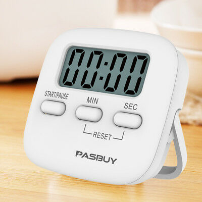 PASBUY 15S Digital LCD Magnetic Kitchen Timer Cooking Alarm Stand Count Up Down