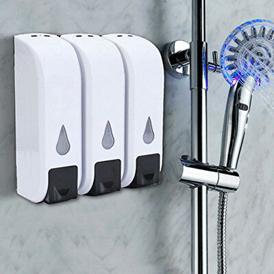 Wall Mounted Bathroom Shower Lotion Liquid Shampoo Hand Sanitizer Soap Dispenser