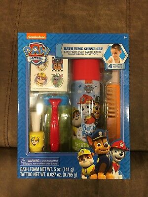 New Nickelodeon Paw Patrol Bath Time Pretend Shave Set Play Toy