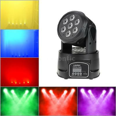 Lixada DMX-512 Mini Moving Head Licht RGBW LED Bühnenlicht Strobe 9/14CH H7V7