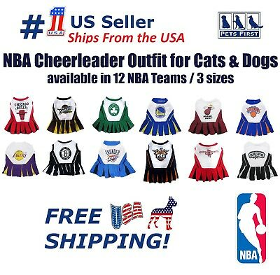 02b3fc2cdac3 Pets First NBA Licensed Cheerleader Outfit for Dogs and Cats 12 Teams   3  Sizes.