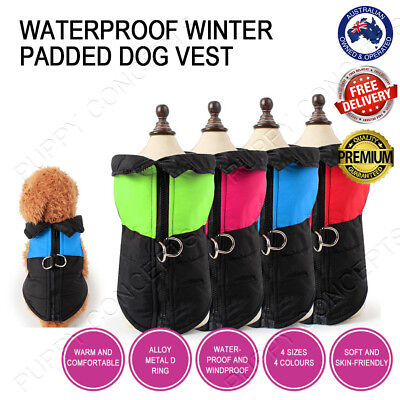 Winter Vest Jacket Coat Windbreaker Clothes Warm Padded Waterproof Large Pet Dog