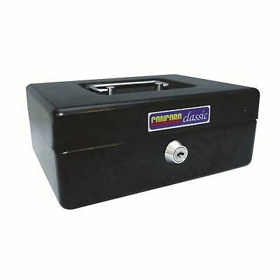 Petty Cash Boxes 10In 250X180  Black Tin Container