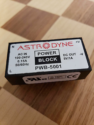 PWB-5001   Astrodyne Power Supply  +5 V/1.0A