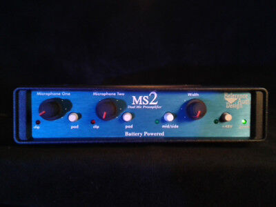 R.A.D Two Channel Mic Pre 12v portable preamp Reference Audio Design mid side MS