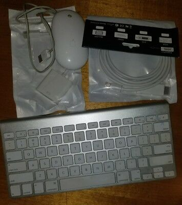 Original Apple Keyboard, Mouse and Display Ports for iMac Macbook