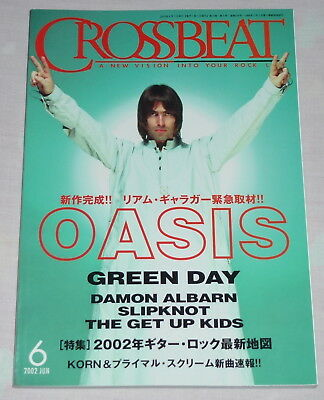 CROSSBEAT magazine Japan book 6/2002 ! OASIS Green Day SLIPKNOT