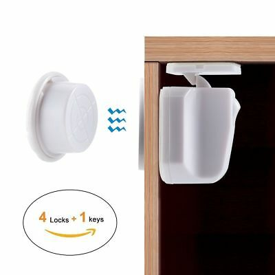 10PCS Magnet Magnetic Baby Child Kids Safety Lock Protector for Drawer Cabinet