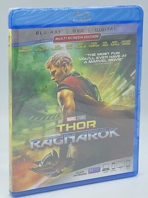 Thor: Ragnarok (Blu-ray+DVD+Digital, 2018; 2-Disc Set) NEW; Marvel