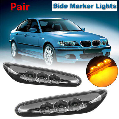 SIDE REPEATER LAMP LIGHT AMBER L /& R PAIR SET FITS 02-05 BMW 3 SERIES SDN//WGN