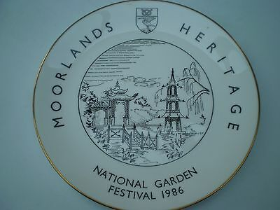 Goss Bone China : Commemorative Plate : Moorlands Heritage Garden Festival 1986