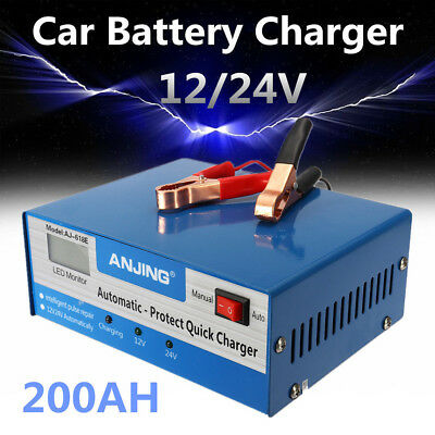 250V 12/24V 200AH Full Automatic Intelligent Car Battery Pulse Repair Charger