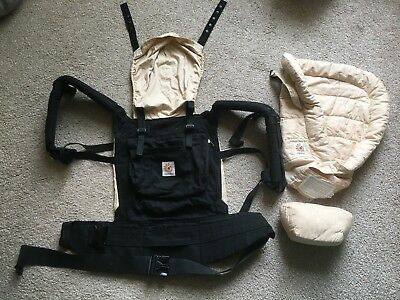 Ergobaby Baby Carrier Original with Newborn Infant Insert and Pillow