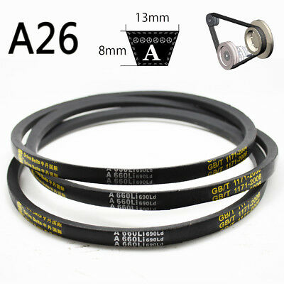 V Belt A Section Sizes A26 8mm*13mm 660mm High Quality For Industrial LawnMower
