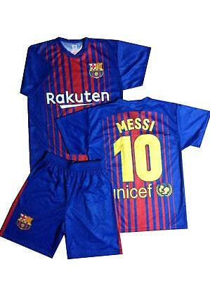 Barcelona Fanshirt & Shorts Messi 10 Kinder boys trikot shirt