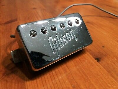 GIBSON Embossed Pickup T Top Neck Humbucker Pat Sticker 1971 1972 SG ES LES PAUL