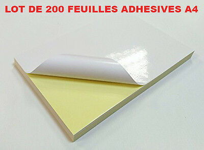 Foil A4 Adhesive Adhesive For Label D'expedition - Batch Of 200