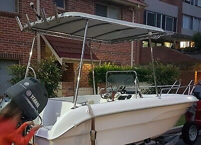 Rigid Bimini T Top Shade Roof Canopy for Boat - GREAT VALUE
