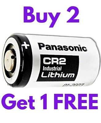 1 x Panasonic Industrial CR2 3v Lithium Photo Battery DLCR2 KCR2 CR17355 Camera