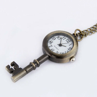 Fashion Small Size Antique Key Style Cute Star Favorite Pocket Watch Jewlery