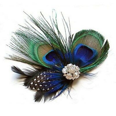 Women Girls Baby Hair Clips Peacock Feather Hair Clip Pin for Girls Brides Good