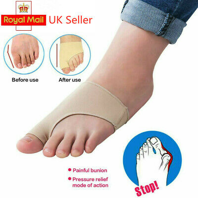 2pcs Gel Big Toe Bunion Protector Support Bunions Blisters Gout Foot Pain UK