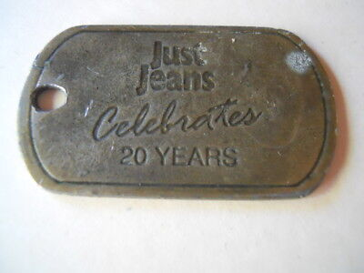Just Jeans Brass plate