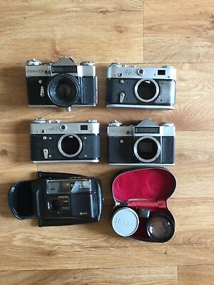 Camera Job Lot 1 - For Parts Or Display / Zenit Fed Yashica Petri