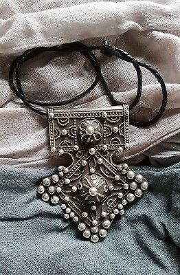 Old Large Berber SILVER Cross - BOGHDAD - South Morocco, Silver