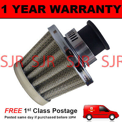 12mm MINI AIR OIL VENT VALVE BREATHER FILTER FITS MOST CARS SILVER CONE