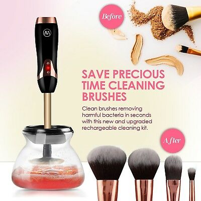 Electric Makeup Brush Cleaner Brushes Easily Rechargeable No Batteries Needed
