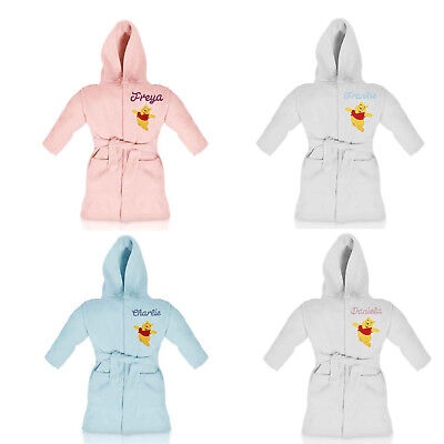 Winnie The Pooh personalised dressing gown/bathrobe embroidered with name
