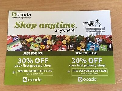 Ocado 30% Off Voucher Coupon Order by 1st July 2018 + Deliveries for a Year!
