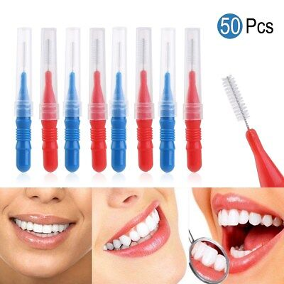 50 Brosse Cure Dent Brossette Interdentaire Dentaire Nettoyage Toothpick Oral FR