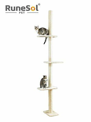 Cat Tree Floor to Ceiling 235cm-285cm X-Large Luxury Activity Scratching Tree